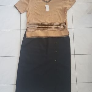 Vintage Set Skirt and Top 80s Office Wear XL …